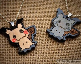 Mimikyu Pokemon XY Acrylic and Wood Necklace Pendant
