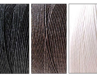 6 Yards Waxed Cord for knotting bracelets and necklaces, jewelry making supply (3 ply) BROWN, BLACK, or WHITE