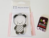 Pineapple Crown Panda Clear Stamp