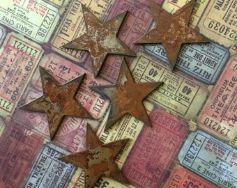 The Stars At Night Are Big And Bright 20 Large Rusty Metal Stars Rusty Stars Rustic Embellishments Supply Metal Stars ETSY