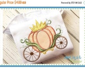 50% Off 3414 Halloween Thanksgiving Pumpkin Carriage Crown just like Cinderella applique digital design for embroidery machine by Applique C