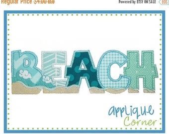 50% Off INSTANT DOWNLOAD Beach Wave applique design in digital format for embroidery machine by Applique Corner