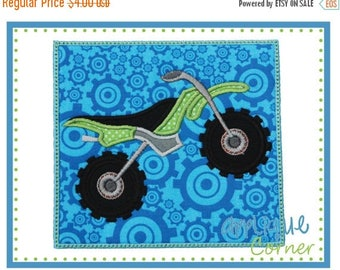 40% OFF Dirt Bike Motorcycle Patch applique digital design for embroidery machine by Applique Corner