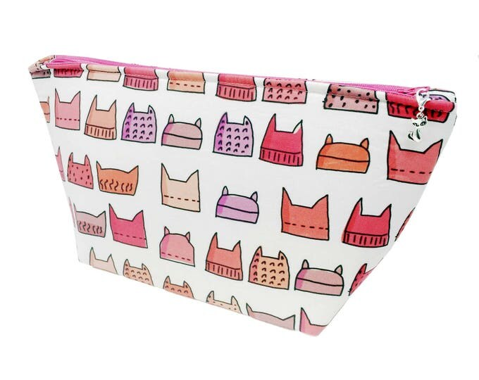 """Featured listing image: Wedge """"Pussyhats"""" Cosmetic/Accessory/Project Bag"""