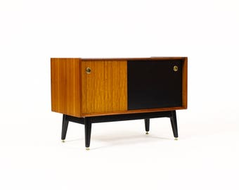 Danish Modern / Mid Century Compact Credenza — Mahogany + Black Lacquer — Librenza Range for G-Plan