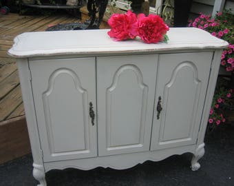 shabby chic dove grey french cabinet
