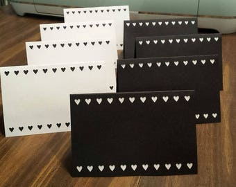Set of Blank Handmade Heavy Note Cards Anniversary Thank You Invitations Greeting Card Stationary FREE SHIPPING