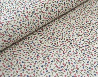 Decorative Craft Paper - Red and Blue Ditsy Floral