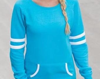 Personalized Ladies Varsity Fleece Crewneck Pullover