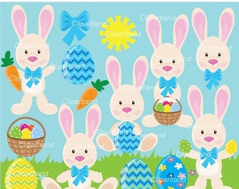 ON SALE INSTANT Download.  Easter bunny clip art. Cb_10. Personal and commercial use.