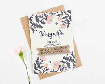 Personalised Wife Wedding Day Card