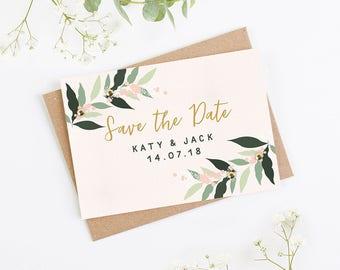 Botanical Blush Folded Save the Date