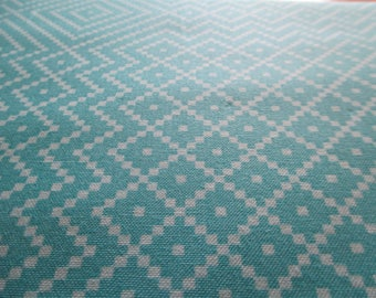 Quilting Weight Cotton Fabric Atrium In Needlepoint Mint by Joel Dewberry for Free Spirit 1 yard