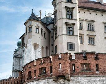 Kraków Cracow Waval UNESCO Castle Urban City Palace Historic Color Landmark City Europe Poland Art Photo Print