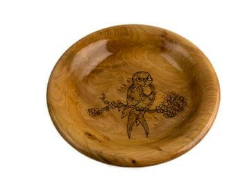 Sweet Swallowtail Maple Wood Bowl With Pyrography