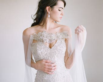 bridal cape etsy