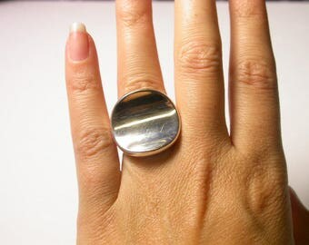 RLM Studio Sterling Silver Smooch Ring - Size 6 - Weight 23 Grams - Large Ring - Modernist # 426