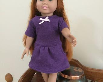 Purple Sweatshirt Doll Dress