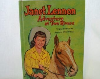 ON SALE Book, Children's, Janet Lennon, Adventures at Two Rivers, Whitman Publishing Co. 1961, First Edition, Hardcover, No 1536, Vintage