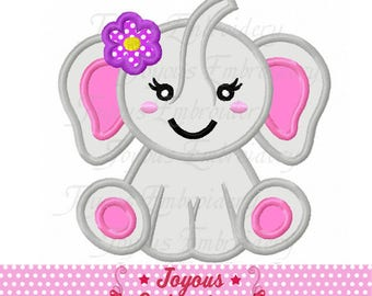 Instant Download Girl Elephant Applique Embroidery Design NO:2385