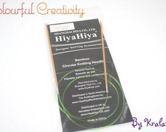 40cm - Hiyahiya Bamboo circular knitting needles