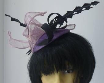 Black and Purple fascinator
