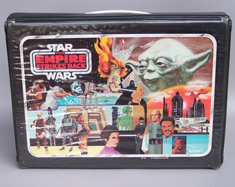Vintage 1980 Star Wars Empire Strikes Back Action Figure Case with Both Trays