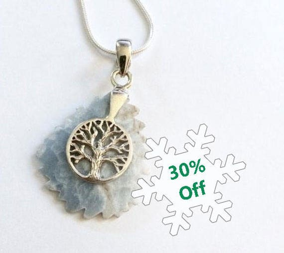 Sterling Silver, Larimar, Tree of Life, Necklace, Healing Jewelry, Crystal Healing, Throat Chakra, Wedding Jewelry, Yoga Jewelry