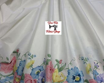 Vintage Daisy Kingdom In the Garden Double Border Fabric  ... great for girls dresses, aprons, Easter Dress, Spring Dress, Special Dress