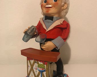 Vintage Battery Operated Bartender Great Working condition