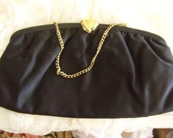 Vintage Black Evening Bag/Purse/Clutch