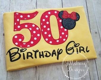 Disney-Inspired Birthday Shirt - 16th - 21st - 40th - 50th - 60th - Custom Birthday Tee 734 50 yellow