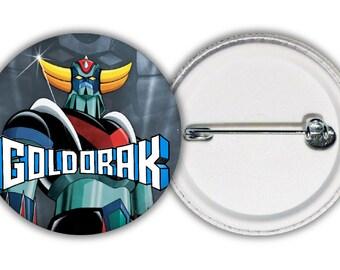 "Cartoon ""Goldorak"" 38mm badge"