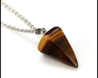 Tigers Eye Pendulum Pagan Wiccan