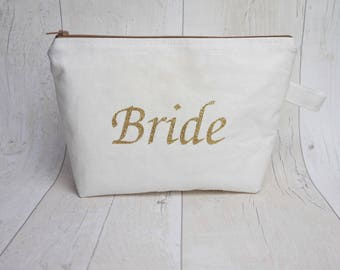 Bride makeup bag/ travel bag/ wash bag