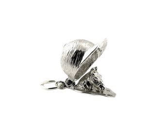 Sterling Silver Opening Horse Rider's Cap Charm For Bracelets
