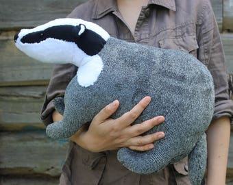 Made to order! Badger stuffed  toy - Badger plush - stuffed animal badger
