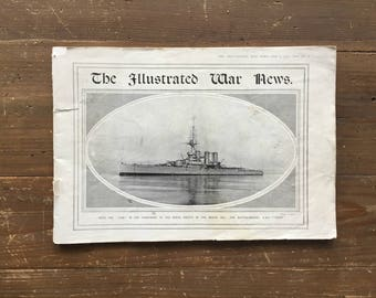 The Illustrated War News February 3 1915 WW1 Battle of the North Sea HMS Tiger