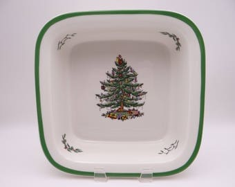 """Spode Made in England Christmas Tree 10"""" Square Baker Baking Dish - Oven to Table"""