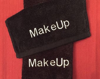 A set of embroidered Make up towels... 1 hand towel and 1 wash cloth