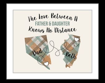 Dad gift from daughter, father, christmas gifts for dad, quotes, grandparent present moving away long distance military dad gift son daddy