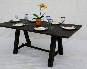 Farmhouse Table made with Reclaimed Wood ( local pickup or delivery only please )