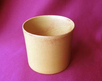 bennington pottery potters open sugar 1634 tawny mustard yellow ochre david gil Yusuke Aida cream pitcher creamer 1375 A vermont green/blue