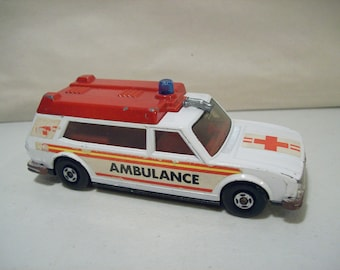 Vintage Matchbox Speed Kings K-49 Die-cast Ambulance Car 1974 Lesney England