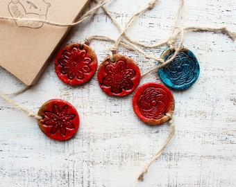 Rustic red Christmas ornaments rustic Christmas decorations Christmas tree red teal emerald gold