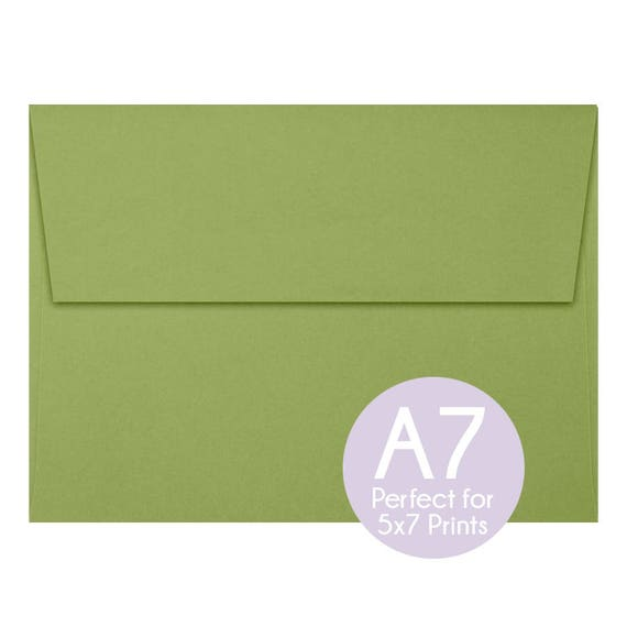 avocado green a7 5x7 envelopes 5x7 invitation envelopes perfect