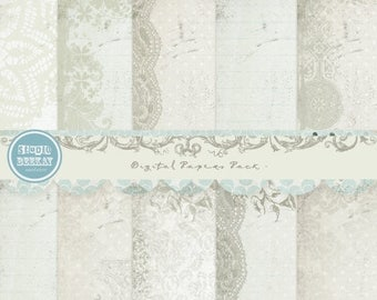 ON SALE NOW Digital Scrapbooking Papers pack, 12x 12 in 300 dpi vol.47, card making - Instant Download