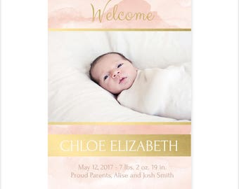Chloe Elizabeth Birth Announcement