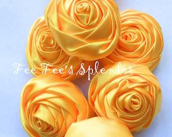 "DIY headband flower - Satin 2"" Rose - Hair Accessory - Rolled Rosette - Wholesale Flower- Headband supplies"
