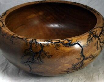 Lichtenberg Figure Maple Bowl